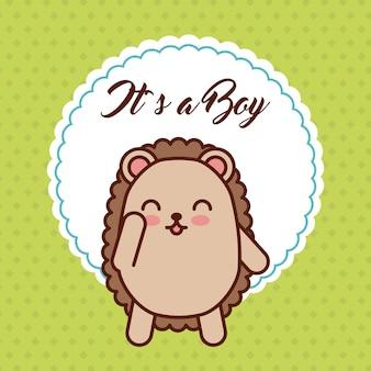 Cartão de bebê bonito purcopine cartão do bebê