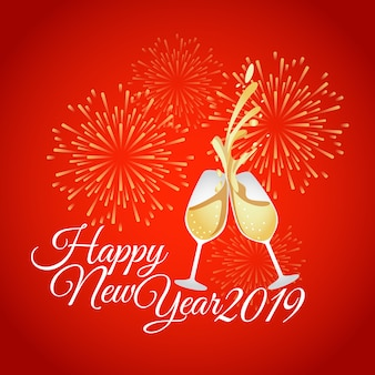 Cartão de ben new year