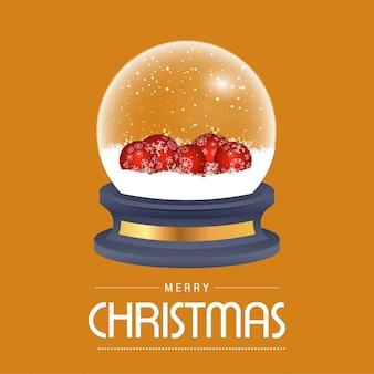 Cartão de bola de neve de natal