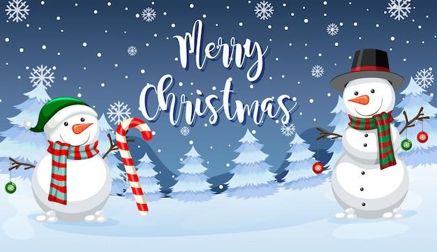 Cartão de boneco de neve feliz natal