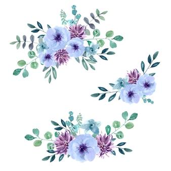 Cartão de buquê para ocasião especial, aquarela criativa