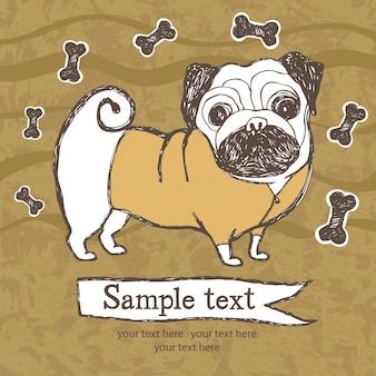 Cartão de cachorro pequeno