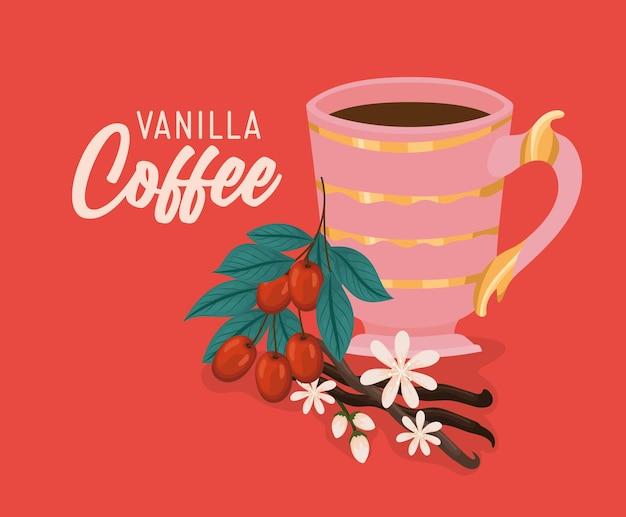 Cartão de café baunilha
