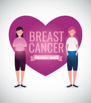 Cartão de campanha de conscientização de câncer de mama