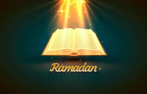 Cartão de capa do ramadã, visão noturna desenhada da mesquita de fundo em arco