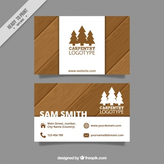 Cartão de carpintaria