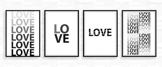 Cartão de cartaz de feliz dia dos namorados de amor, ilustração em vetor tipo de fonte.