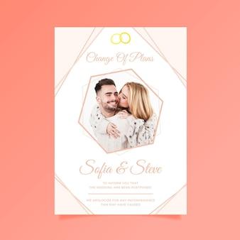 Cartão de casamento adiado