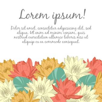 Cartão de casamento com elementos florais
