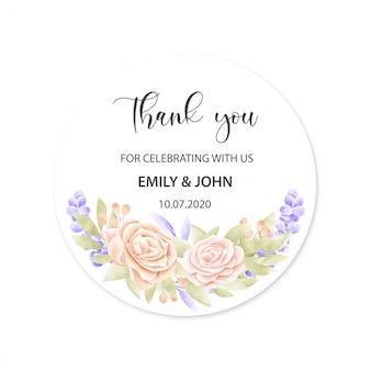 Cartão de casamento com moldura floral