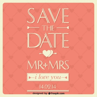 Cartão de casamento design tipográfico