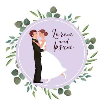 Cartão de casamento do casal