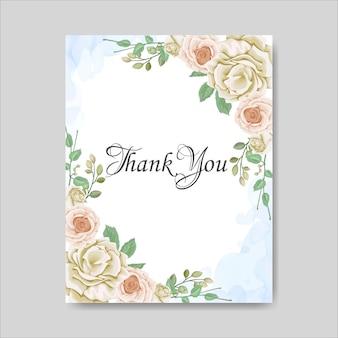 Cartão de casamento floral lindo Vetor Premium