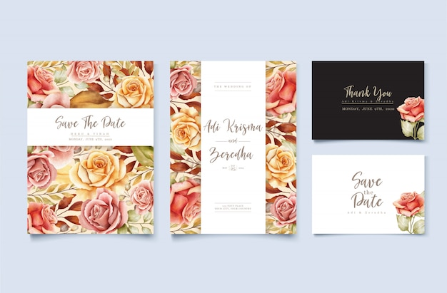Cartão de casamento floral