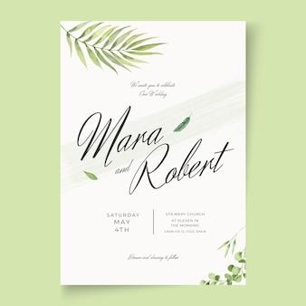 Cartão de casamento mínimo