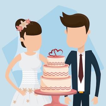 Cartão de casamento recém casado
