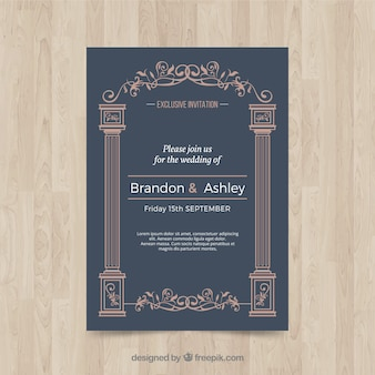 Cartão de casamento