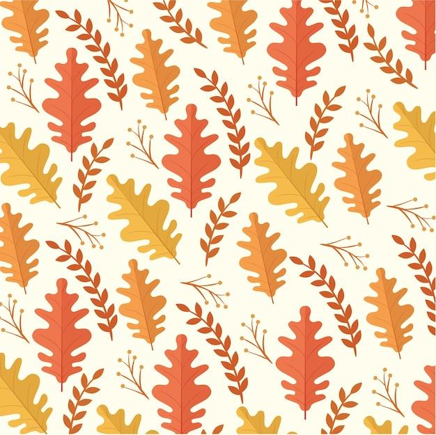Cartão de celebração de ação de graças feliz com design de ilustração de padrão de folhas de outono