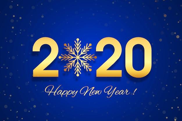 Cartão de celebração de texto feliz ano novo de 2020