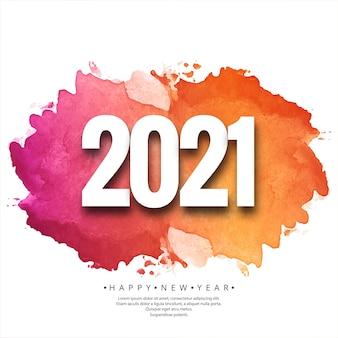Cartão de celebração lindo de feliz ano novo 2021