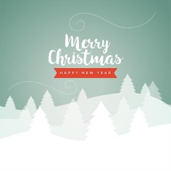 Cartão de cenário clássico de inverno feliz natal em cores vintage