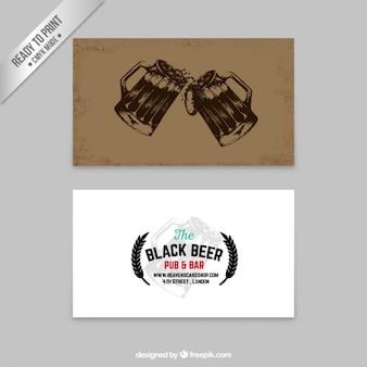 Cartão de cerveja no estilo retro