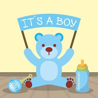 Cartão de chá de bebê