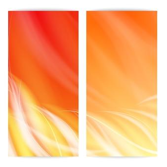 Cartão de chama abstrato.