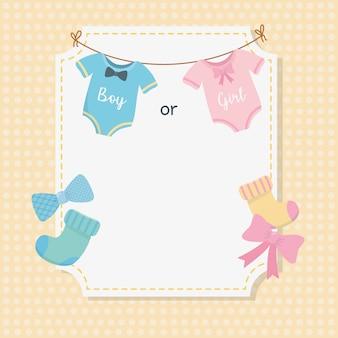 Cartão de chuveiro de bebê com acessórios