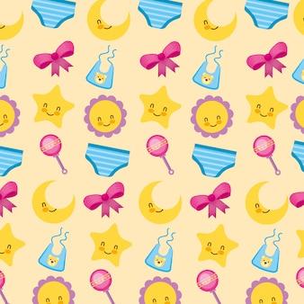 Cartão de chuveiro de bebê com fundo