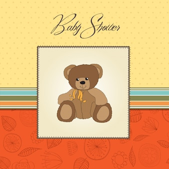 Cartão de chuveiro de bebê com pelúcia