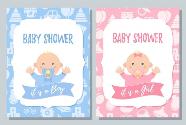 Cartão de chuveiro de bebê.