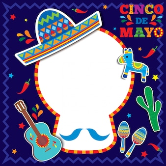 Cartão de cinco de mayo