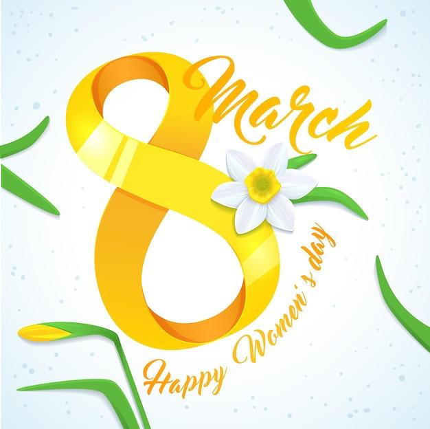 Cartão de comemoração do feliz dia da mulher