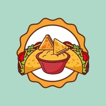 Cartão de comida mexicana