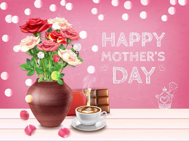 Cartão de composição do dia das mães