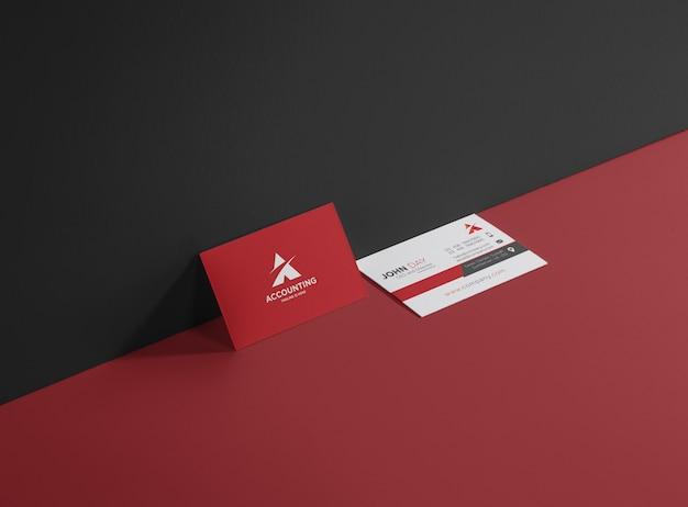 Cartão de contabilidade e financeiro