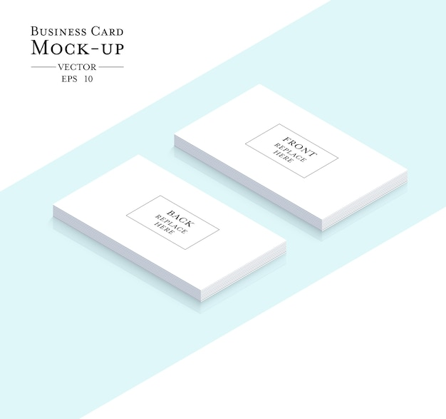 Cartão de contato comercial com maquete Vetor Premium