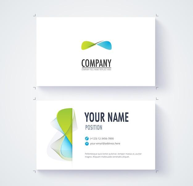 Cartão de contato comercial