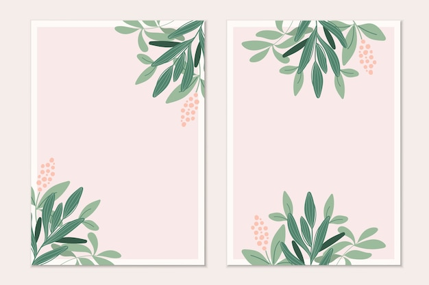 Cartão de convite botânico moderno