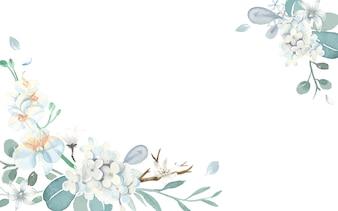 Cartão de convite com um tema azul claro