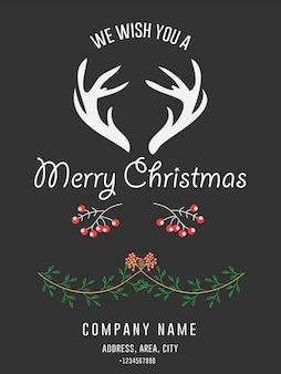 Cartão de convite corporativo feliz natal saudação