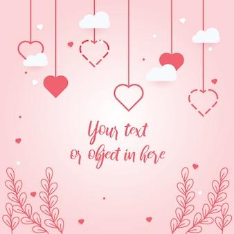 Cartão de convite de amor com planta