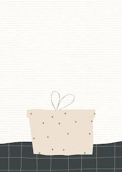 Cartão de convite de caixa de presente com fundo festivo