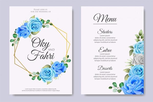 Cartão de convite de casamento bonito