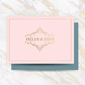 Cartão de convite de casamento clássico
