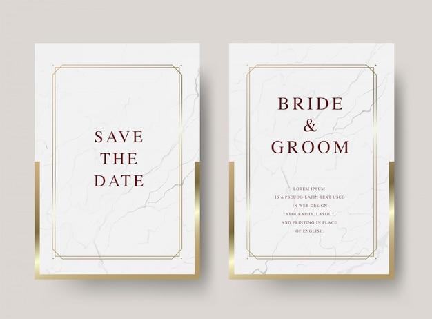 Cartão de convite de casamento de luxo vintage