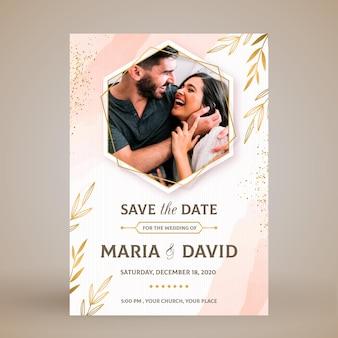 Cartão de convite de casamento elegante