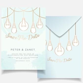 Cartão de convite de casamento evento feminino elegante conjunto tema botânico