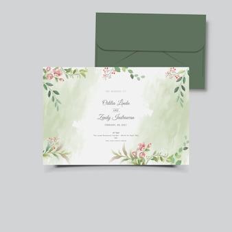 Cartão de convite de casamento floral lindo